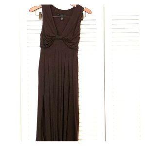 Brown pleated midi dress, xs. Robert Rodriguez